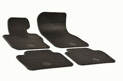 Set of 4 Black Rubber All Weather Floor Mats OE Fit for BMW F30 F31 F32 320i Bmw 318i Floor Mats