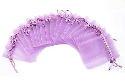 25 pcs Purple Organza Sheer Ribbon Pouches 3