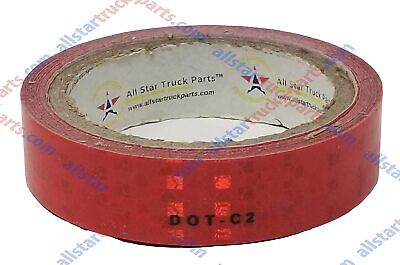 Red Dot-c2 Reflective Tape Conspiciuity Safety Caution Night Trailer Truck Semi