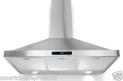 "GTC Europe 36"" Kitchen Wall Mount Stainless Steel Range Hood Stove Vents w/ LED"