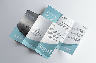 5000 FULL COLOR FLYERS real PRINTING  8 1/2 x 11 TRIFOLDED on 70# Matte Paper
