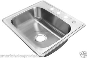 ... Single-Bowl-Basin-Stainless-Steel-Top-Mount-Rubber-Added-Kitchen-Sink