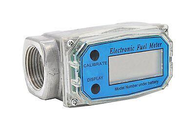 """1""""npt Digital Turbine Flowmeter 15-120l Diesel Fuel Flow Tester Npt Indicator Sensor Counter Liquid Water Flow Measure Tools New Air Flow Meter Automobiles & Motorcycles"""