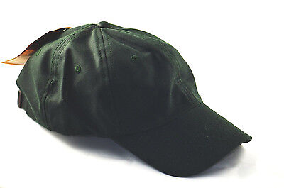 Polo Style Adjustable Low-profile Cap Oil Cloth Water Repellent-forest green Cloth Low Profile Cap