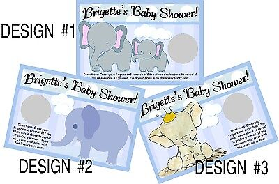 BABY BOY BLUE ELEPHANT SCRATCH OFF OFFS PARTY GAME ELEPHANTS CARDS SHOWER FAVORS](Boy Elephant Baby Shower)