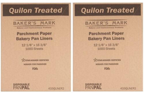 """2000 12"""" x 16"""" Half Size Quilon Coated Parchment Paper Pan Liner Sheets Case"""