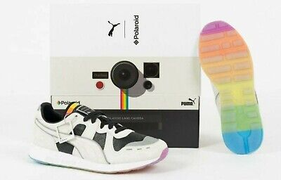Puma RS-100 X Polaroid Limited Edition Running Shoes Trainers UK Size 8 with box