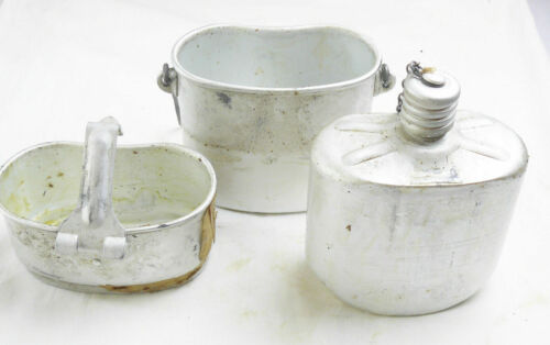 Russian Airborne Flask Soviet Army Canteen Set USSR Kettle Stove 3 Piece Grease