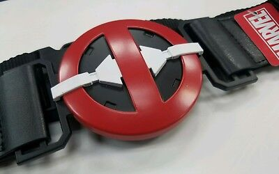 Deadpool Belt Cosplay (BuckleDown Marvel Deadpool Utility Belt with pockets Cosplay Luggage strap)