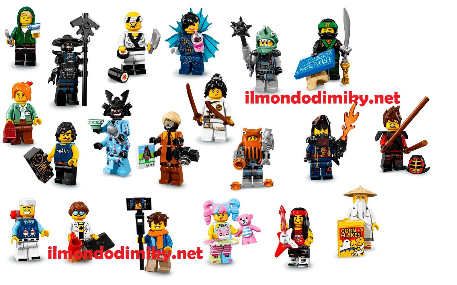 Lego Minifigures Serie NINJAGO MOVIE 71019 Scegli il tuo personaggio dal menù