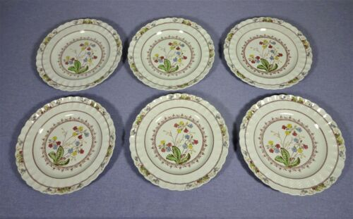 SPODE COWSLIP, SET OF SIX DINNER PLATES , NO CRAZING, EXCELLENT  CONDITION