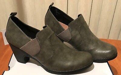 NWT Women's Croft & Barrow Maid casual heels slip on Dress Shoes  sz 8.5 Gray (Maid Shoes)