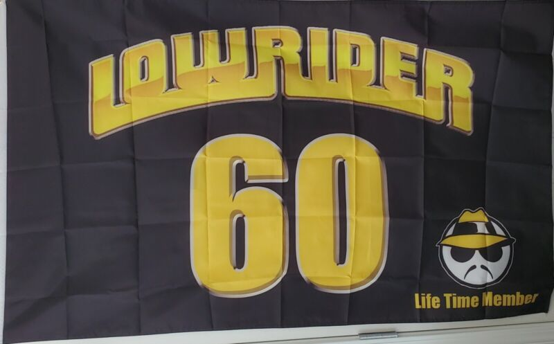 Lowrider Flag 3x5 Indoor/Outdoor Impala 1960 Chicano Style Lifetime Member