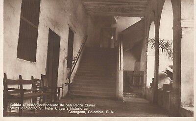 San Pedro Claver House RPPC Cartagena Colombia Photo—Ritz Foto Antique~1930s