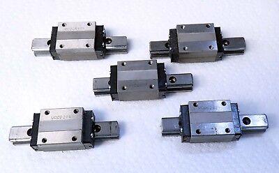 Lot Of 5 Thk Hsr 15 Lm Guide Rail Bearings Wthk Linear Rail 4 102mm L