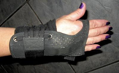 Wrist Brace Lace Up size XS Velcro over Laces Black D-1