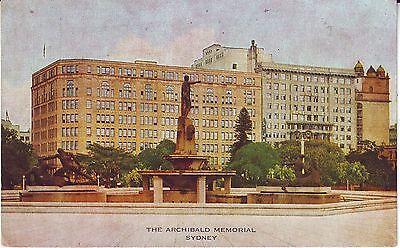 Australia NSW Sydney - Archibald Memorial old unused postcard