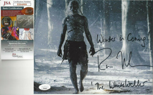 Game of Thrones White Walker walking  autographed 8x10 color photo JSA Certified