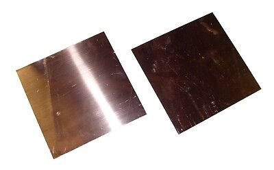 New Copper Sheet - Two 6 X 6 Pieces - Metal Working - 16 Oz 24 Gauge Crafts