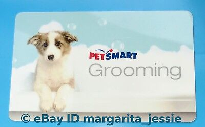 PETSMART GIFT CARD NO VALUE GROOMING DOG TAKING BUBBLE BATH COLLECTIBLE NEW