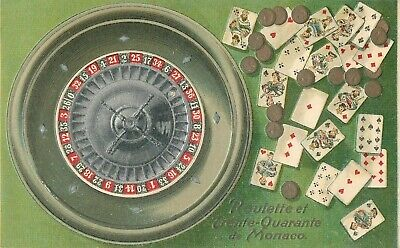 Monaco souvenir de Monte Carlo casino embossed roulette table thirty fourty game Monte Carlo Game Table