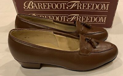 Freedom Synthetic Leather - Barefoot Freedom Women's Casual Dress Leather Pump Brown Size 6 1/2 D
