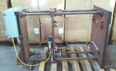 Custom 4 Post Pneumatic Hydraulic Press Platen 36.5 X 25.625 W Control Box