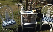 Lovely 4 piece Coastal upcycled cane set Boonah Ipswich South Preview