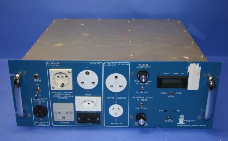 (1) Used Interpower 85510510 Power Source 15909