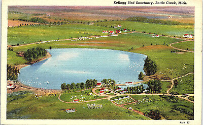 Battle Creek, Michigan, Kellogg Bird Sanctuary - Postcard (RR)