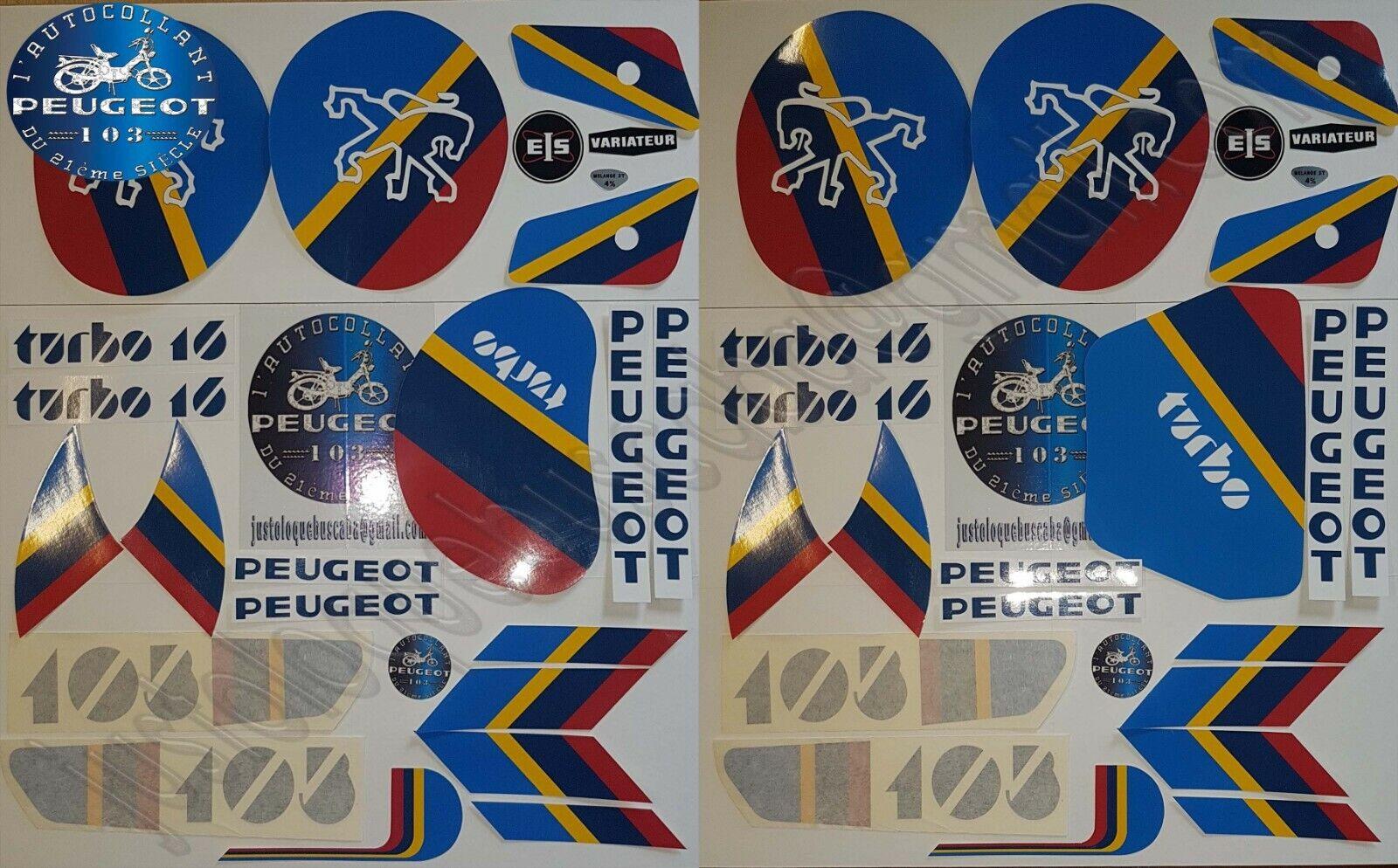 Autocollant stickers mobylette Peugeot 103 Turbo 16 Fait votre choix PH1 ou PH2