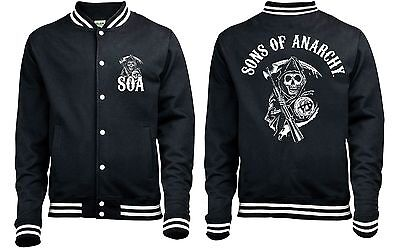 Sons Of Anarchy Classic Baseball Style Varsity Jacket   New   Official