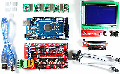 Ramps 1.4 Setkit Fr Reprap 3d Drucker - Mega 2560 5x A4988 12864 Lcd Arduino