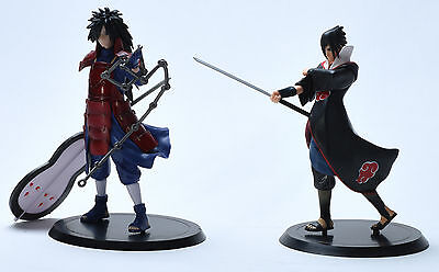 Naruto Uchiha Sasuke Uchiha Madara Japan Anime PCV Figure Toy Doll 2 pcs 18cm
