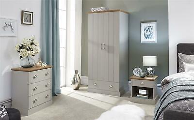 Kendal Bedroom Furniture Set Wardrobe Dressing Table Bedside Table Drawer Chest
