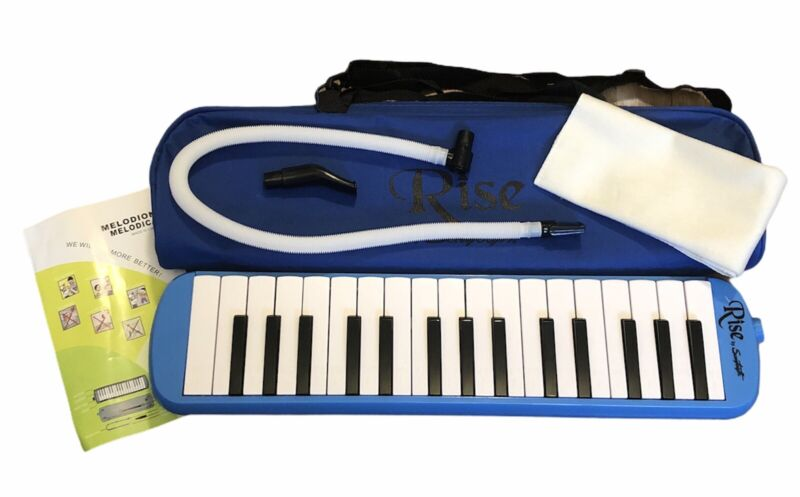 Rise by Sawtooth Piano Style Melodica with 32 Keys & Carry Storage Bag Blue NEW