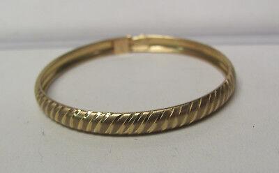 10KT Yellow Gold Childerns Infant Toddlers Bangle Bracelet W070