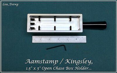 Aamstamp Kingsley Machine 1.5x5 Open Chase Holder Hot Foil Stamping Machine