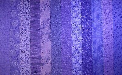 PURPLE PRINTS Jelly Roll Strips ~ 100% Cotton Prewashed ~ Quilt Fabric (#55B) - Purple Jelly