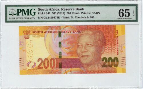 South Africa, ND(2013) 200 Rand P-142 PMG 65 EPQ