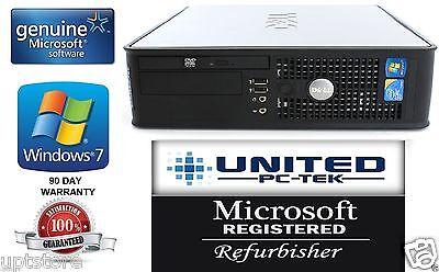 Fast Dell OptiPlex 380/ 780 SFF/DT PC Windows 7 Pro Core 2 Duo 4GB DDR3 DVD WiFi