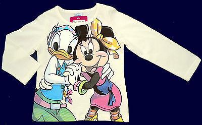 Daisy Langarm-shirt (Neu! Disney Minnie Daisy Langarmshirt Shirt Longsleeve Off White 98 104 116 128)