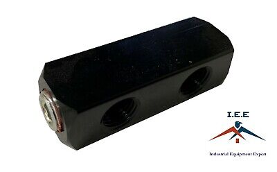 2 Way Air Hose Coupler Distribution Block Bar Line Splitter Manifold 14 Npt