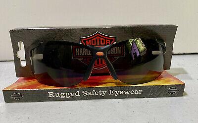 Harley Davidson Rugged Safety Glasses Black Frames Grey Lens Hd1201