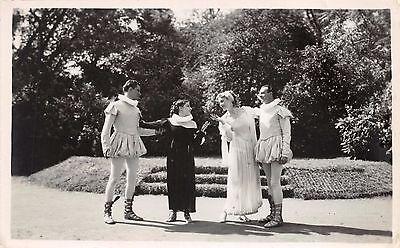 ACTORS & ACTRESSES DRESSED IN SHAKESPEAREAN COSTUMES PHOTO POSTCARD  (Shakespearean Costumes)