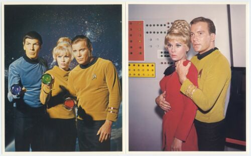 4 STAR TREK Original TV Show Lithograph Pictures—KIRK, SPOCK, JANICE RAND, SULU