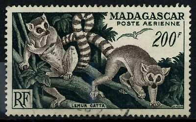 Madagascar SG#327, 200f Ringed Tailed Lemurs Used Cat £10.50 #E83546