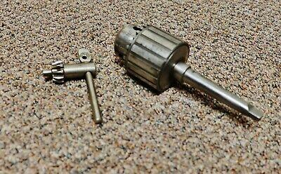 Jacobs No 32 Drill Chuck 38 Woriginal Key- Morse Taper 3 Arbor-nice