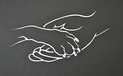 SLED DOG SPIRIT PAW IN HAND STICKER DECAL COLLIE LABRADOR HUSKY MALAMUTE...