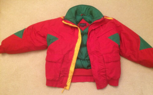 Gant Goose Down w Outer Shell Red Ski Jacket & Hood *100% Donation 2 cure Cancer